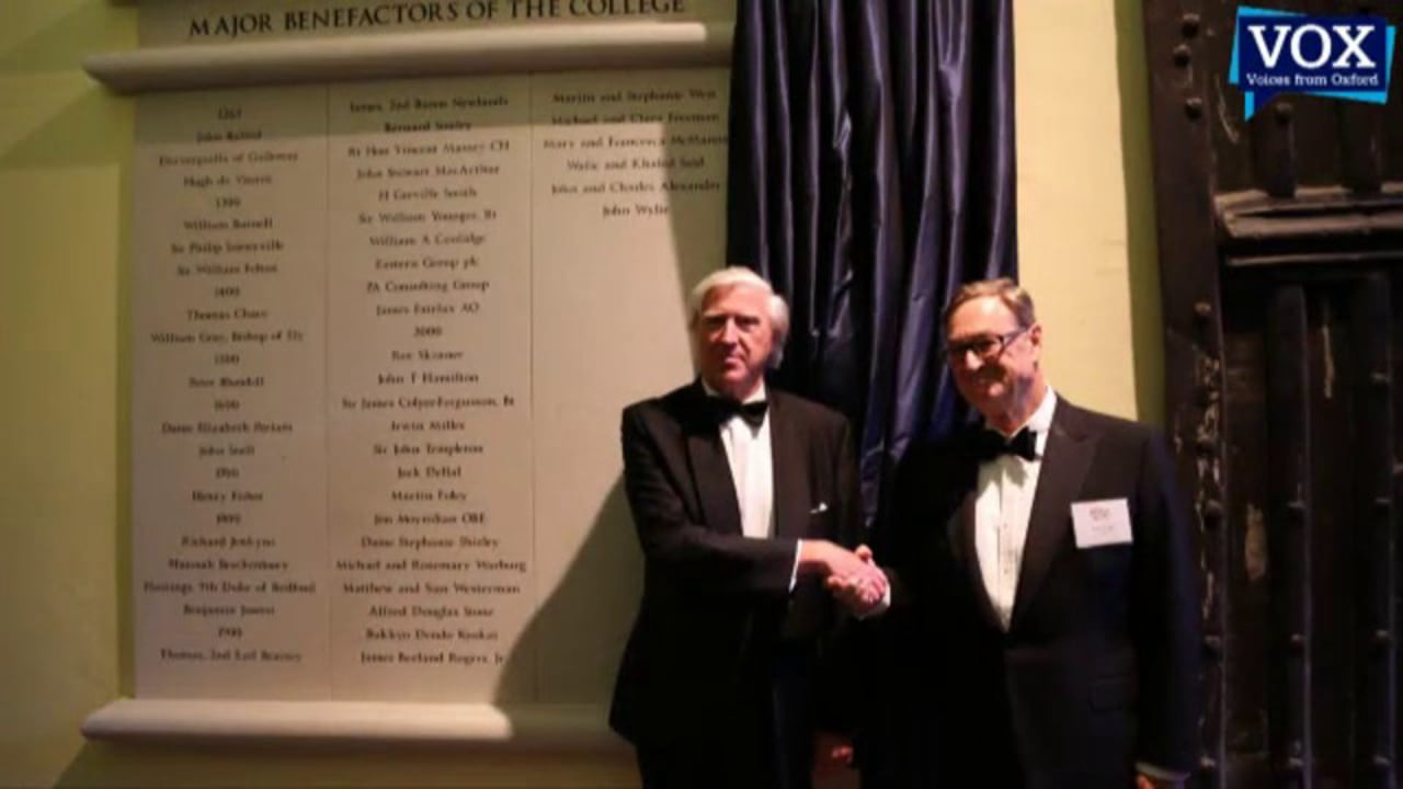 Unveiling of the Major Benefactors' Plaque