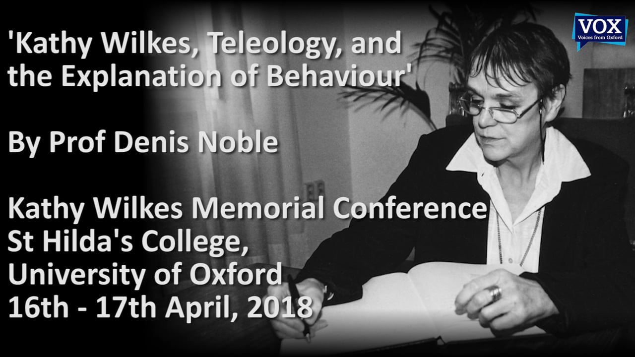 Kathy Wilkes, Teleology, and the Explanation of Behaviour