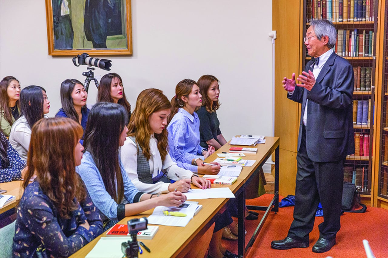 Prof Yung E Earm – Lecture to Ewha Woman's University students